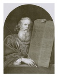 Moses and the Tables of the Law Giclee Print by  English