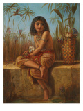An Egyptian Flower Girl (Oil on Canvas) Giclee Print by Frederick Goodall