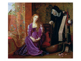 'The Pained Heart', or 'Sigh No More, Ladies', 1868 Giclee Print by Arthur Hughes