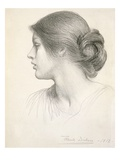 Beatrice Stuart, 1912 (Pencil on Paper) Giclee Print by Frank Bernard Dicksee