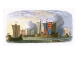 Battle of Sluys Giclee Print by James E. Doyle