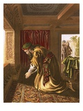 Daniel Praying Giclee Print by  English
