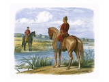 Henry and Stephen Confer across the Thames Giclee Print by James E. Doyle