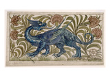 Dragon' Design for a Tile (W/C on Paper) Premium Giclee Print by William De Morgan
