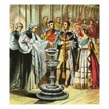 Baptism of the Prince of Wales Giclee Print by  English