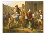 The Triumph of Mordecai Premium Giclee Print by  English