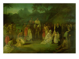 The Cession of Matavi by the High Priest of Tahiti Giclee Print by Robert Smirke