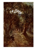 Jesus Praying in the Garden of Gethsemane Giclee Print by William Brassey Hole