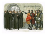 The Monks of Christchurch Expelled Giclee Print by James E. Doyle