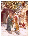 Mary Goes into the Hill Country and Meets Elizabeth Giclee Print by William Brassey Hole