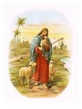 Jesus, the Good Shepherd Reproduction procédé giclée par  English