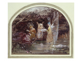 Wounded Faun (W/C on Paper) Giclee Print by John Anster Fitzgerald