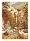 Jesus Resting by Jacob's Well Giclee Print by William Brassey Hole