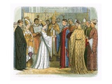 Marriage of King Henry V and Katherine of France Premium Giclee Print by James E. Doyle