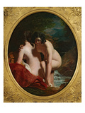 Two Girls Bathing (Oil on Panel) Giclee Print by William Etty