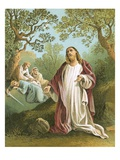 Jesus in the Garden of Gethsemane Giclee Print by  English