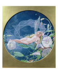 Titania Lying on a Leaf (W/C and Gouache) Giclee Print by John Simmons
