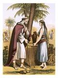 Abraham's Servant and Rebekah Lámina giclée por  English