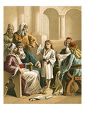 Jesus Disputing with the Doctors Reproduction proc&#233;d&#233; gicl&#233;e par  English