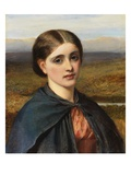 Study of an Irish Head, 1866 (Oil on Board) Giclee Print by Charles Sillem Lidderdale