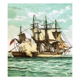 Chesapeake and Shannon Giclee Print by  English
