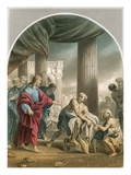 Miracle: &#39;And He Arose, and Departed to His House.&#39; Giclee Print by Luca Giordano