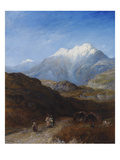 The Snow Capped Atlas Mountains of the Grand Kabylie, Algeria Premium Giclee Print by Paul H. Ellis