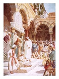 Jesus Preaching in the Temple Giclee Print by William Brassey Hole