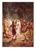 Judas Betraying Jesus with a Kiss, in the Garden of Gethsemane Giclee Print by William Brassey Hole