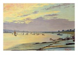 Low Tide, 1919 (Oil on Board) Giclee Print by W. Savage Cooper