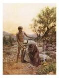Abraham and Isaac at Mount Moriah Lámina giclée por William Brassey Hole