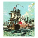 Lord Howe's Victory Giclee Print by  English