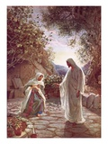 Jesus Revealing Himself to Mary Magdalene Giclée-tryk af William Brassey Hole