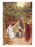 Jesus Resting at Bethany at the House of His Friends Giclee Print by William Brassey Hole