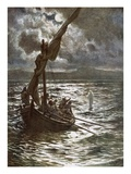 Jesus Walking Upon the Sea Giclée-tryk af William Brassey Hole