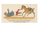 There Was an Old Man of Nepaul, from His Horse Had a Terrible Fall Giclee Print by Edward Lear