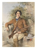 Portrait of Heneage Finch, 6th Earl of Aylesford (W/C Heightened with White) Giclee Print by Octavius Oakley
