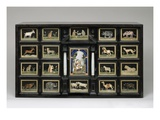 Cabinet, C.1620 (Pearwood, Ebony, Alabaster and Pietre Dure Panels) Giclee Print by  Italian