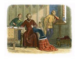 Queen Anne Intercedes with Gloucester and Arundel for Sir Simon Burley Giclee Print by James E. Doyle