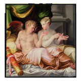 Eros and Psyche, 16th Century (Oil on Canvas) Reproduction proc&#233;d&#233; gicl&#233;e par Nicolo dell&#39; Abate