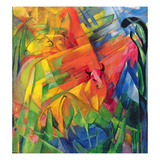 Animals in a Landscape, 1914 Giclee Print by Franz Marc