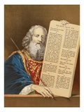 Moses with the Tables of the Law Giclee Print by  English