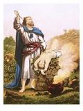 Abraham Offering Up Isaac Lámina giclée por  English