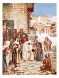Jesus Blessing Little Children Giclee Print by William Brassey Hole