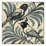 Bluebirds (W/C on Paper) Giclee Print by William De Morgan
