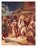 Joseph and Mary Arrive at Bethlehem, But Find There Is No Room for Them at the Inn Giclee Print by William Brassey Hole
