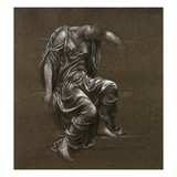 Drapery Study for 'In Memoriam' (Black Chalk Heightened with White on Brown Paper) Giclee Print by Evelyn De Morgan