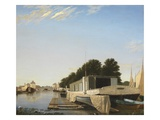 Barges at a Mooring Giclee Print by  Scandinavian