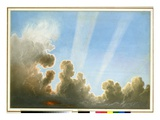 Thunderstorm Passing over the Black Country, Sunset (W/C and Pencil on Paper) Giclee Print by Frederick Joseph Butler Lines