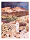 Jesus Being Led into the Wilderness to Be Tempted by the Devil Giclee Print by William Brassey Hole